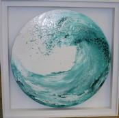Crescent wave - Acrylic pouring
