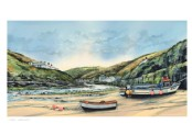 Low Tide Boscastle - Print