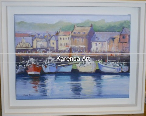 IFcrph - Corner of the harbour, Padstow - Acrylic