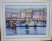Corner of the harbour, Padstow - Acrylic