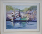 Padstow Boats - Acrylic