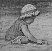 'Baby' Playing - Pencil