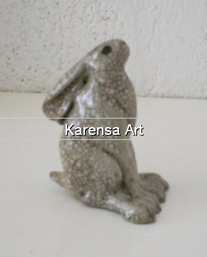 PJmgs - Raku Moongazing Hare (Small)