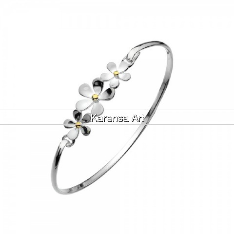 SGSDB - Silver Daisy Bangle
