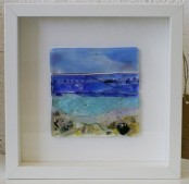 Beach - Framed fused glass