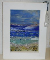 Dancing Tides - Framed fused glass